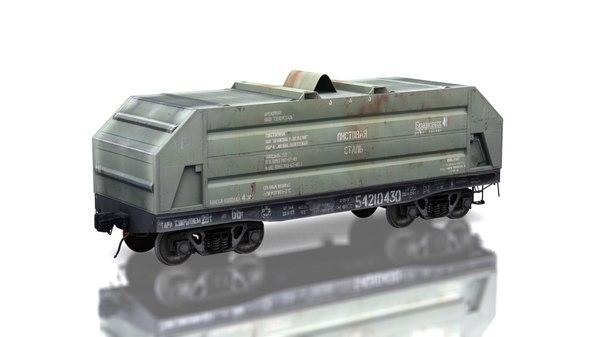 3d model cargo train car 13-4094
