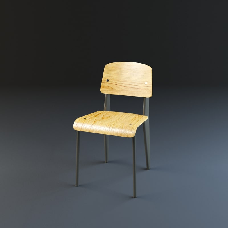 vitra standard chair 3d model