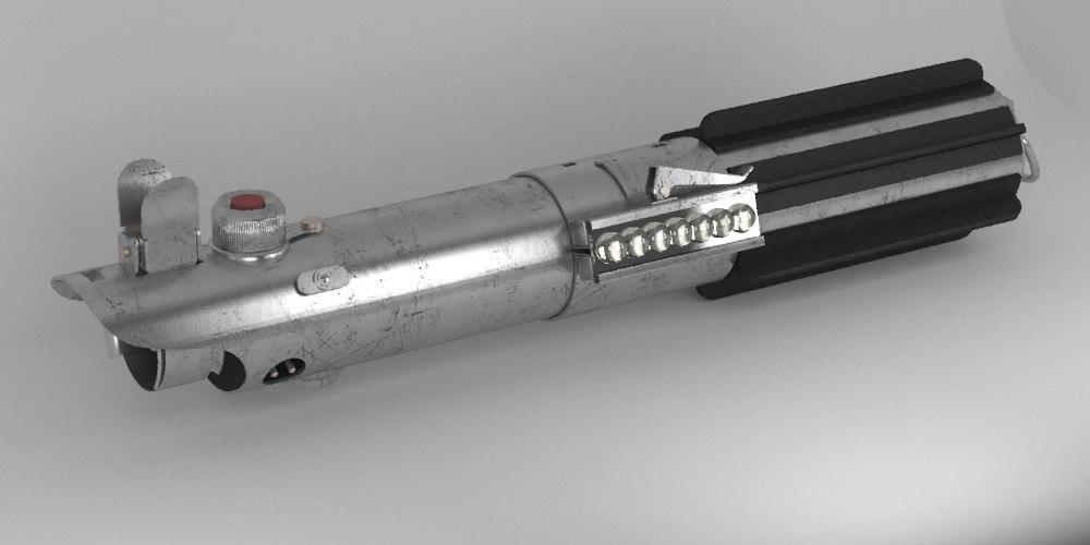 3d model lightsaber