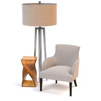 occasional chair lamp 3d model