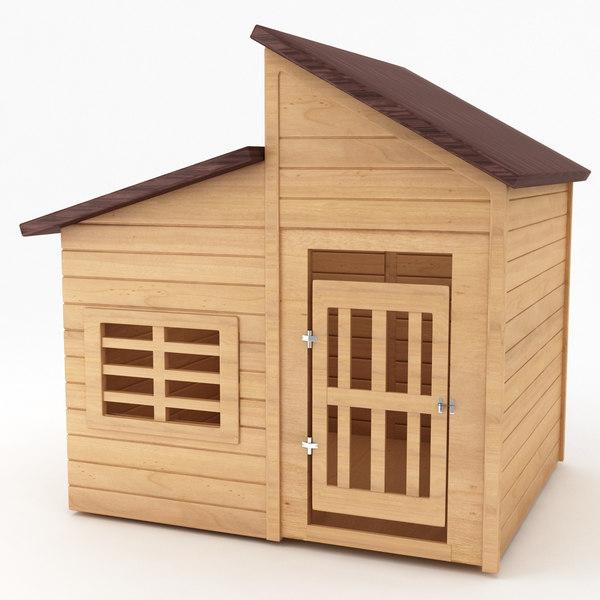 3d model dog house