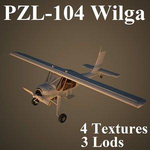 3d model of wilga air low-poly