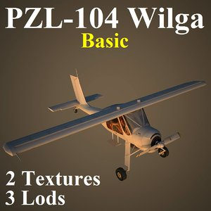 wilga basic 3d model