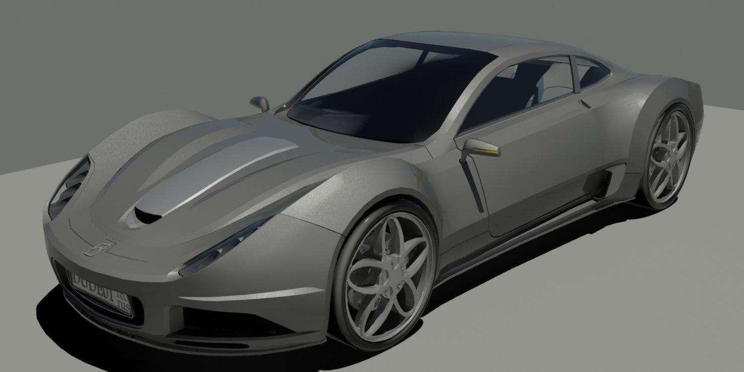 3d concept car model