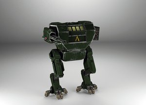 3ds max rigged mech