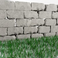 High quality damaged wall and grass
