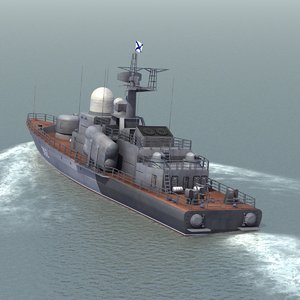 3d model project tarantul missile boat