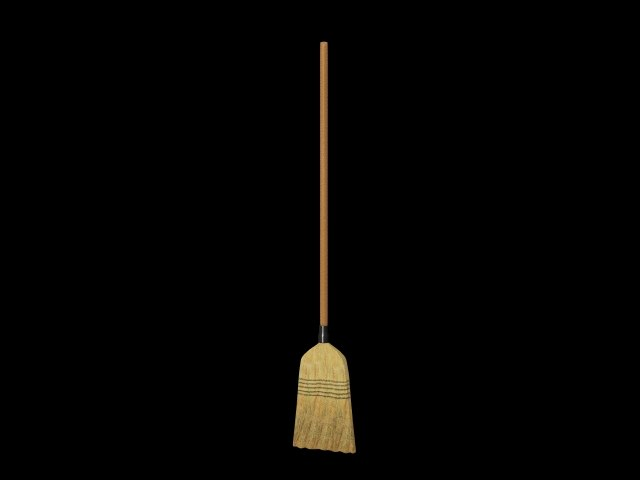 3ds max broom rigged