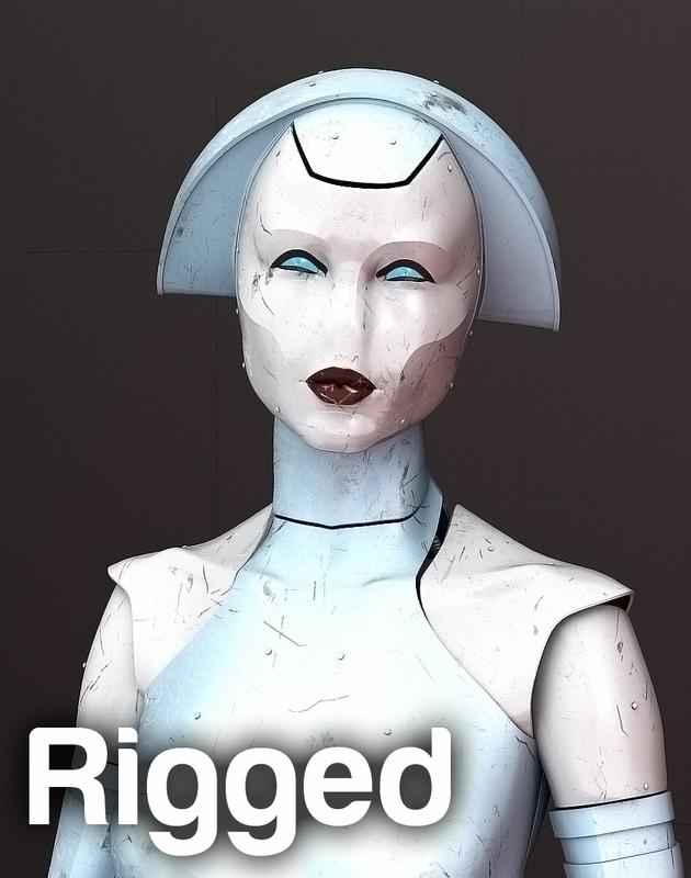 attendance robot 3d model