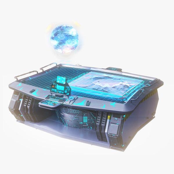 3d hologram table model