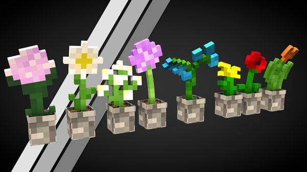 free c4d mode s pack flower minecraft