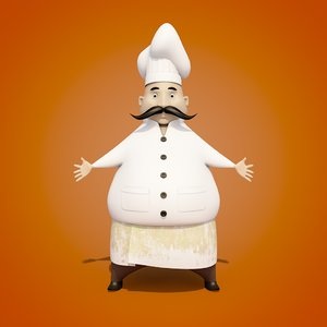 c4d cartoon chef