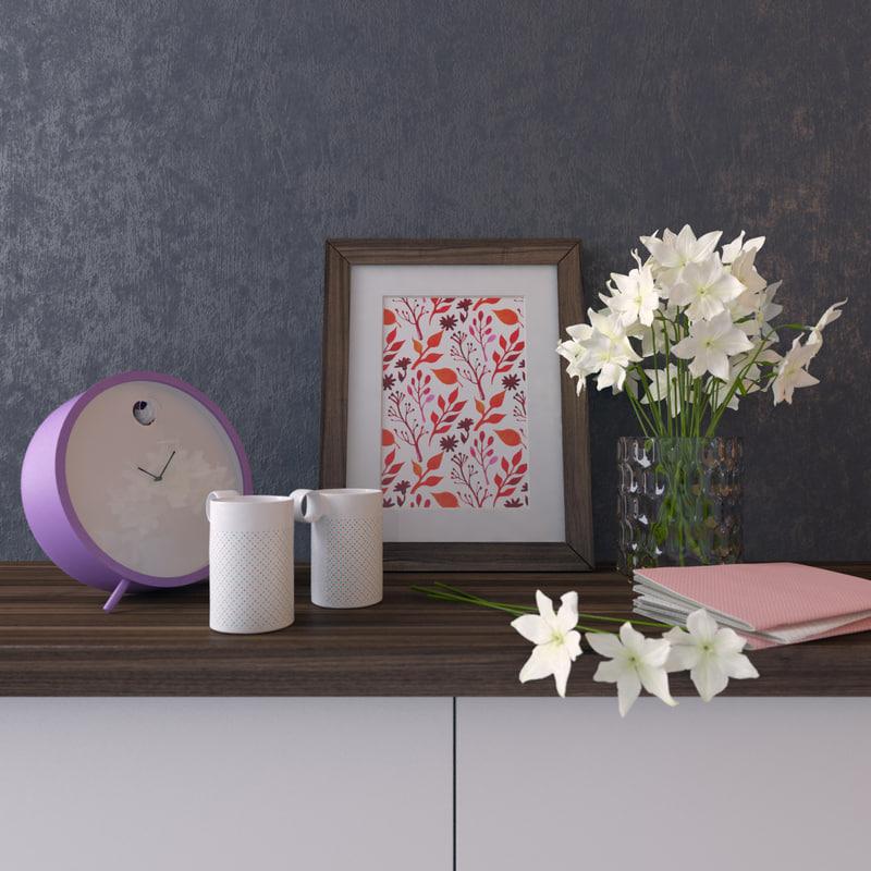 decorative set cuckoo-clock 3d max