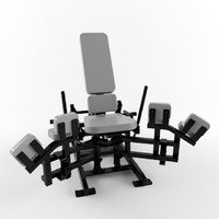 Low poly gym equipment Adductor