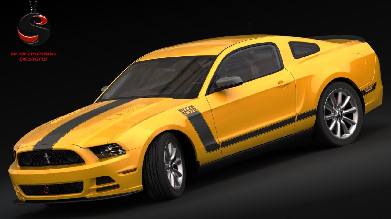 Mustang Boss 302 2013 3d Model 2014 Ford 302s