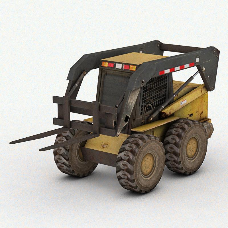 3d mini forklift games model