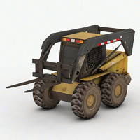 3d mini forklift games model