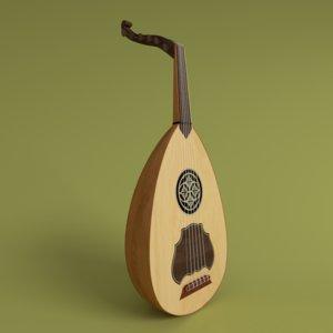 lute 3d model