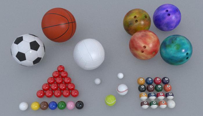 balls sports football basketball fbx