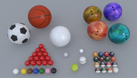 balls sports football basketball fbx