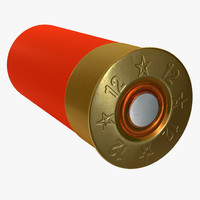 shotgun shell shot 3d max