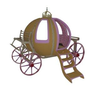 cinderella carriage bed 3d blend