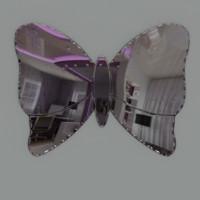 mirror bathroom butterfly fbx
