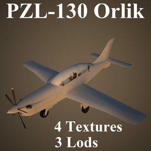 3d orlik air low-poly model