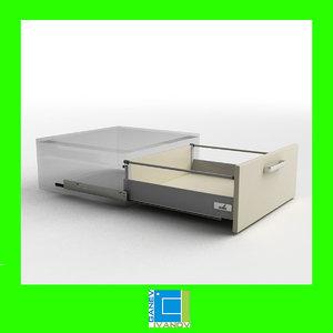 3ds hettich innotech drawer 144mm