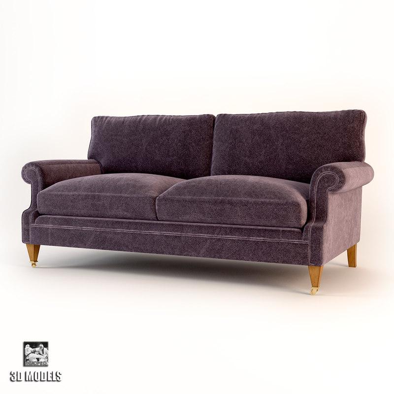 3d model sofa artistic mayfair