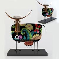 3d model metal bull