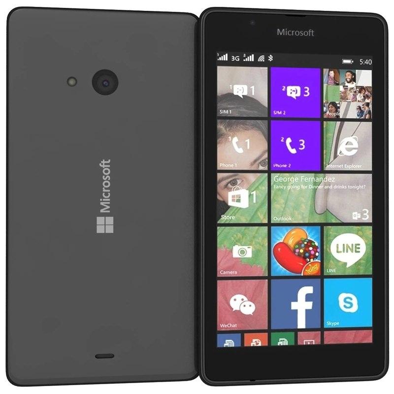 microsoft lumia 540 dual 3d obj