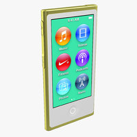 3d obj ipod nano yellow