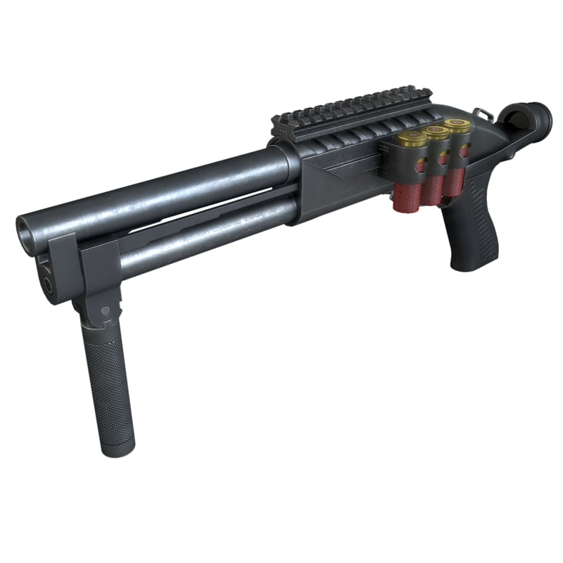 3d model super shorty shotgun