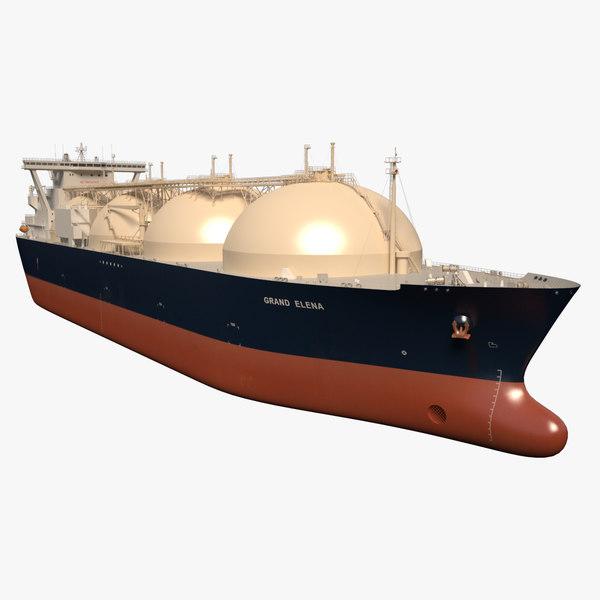 3d lng tanker ship grand model