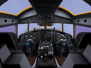 3d model e-2c hawkeye cockpit e-2