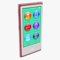 Apple iPod Nano Red 3D Model