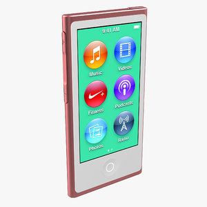 3d model ipod nano red