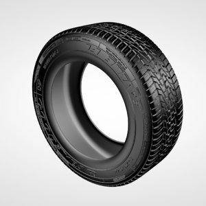 cinema4d realistic generic tire
