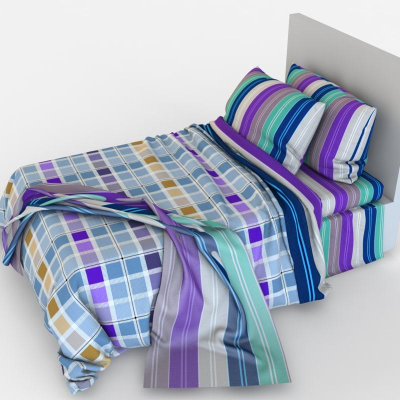 3d model children bed linen