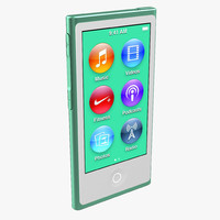 3d ipod nano green model