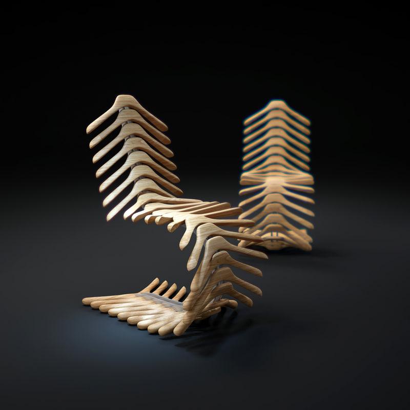 coat-hanger-chair 3d model