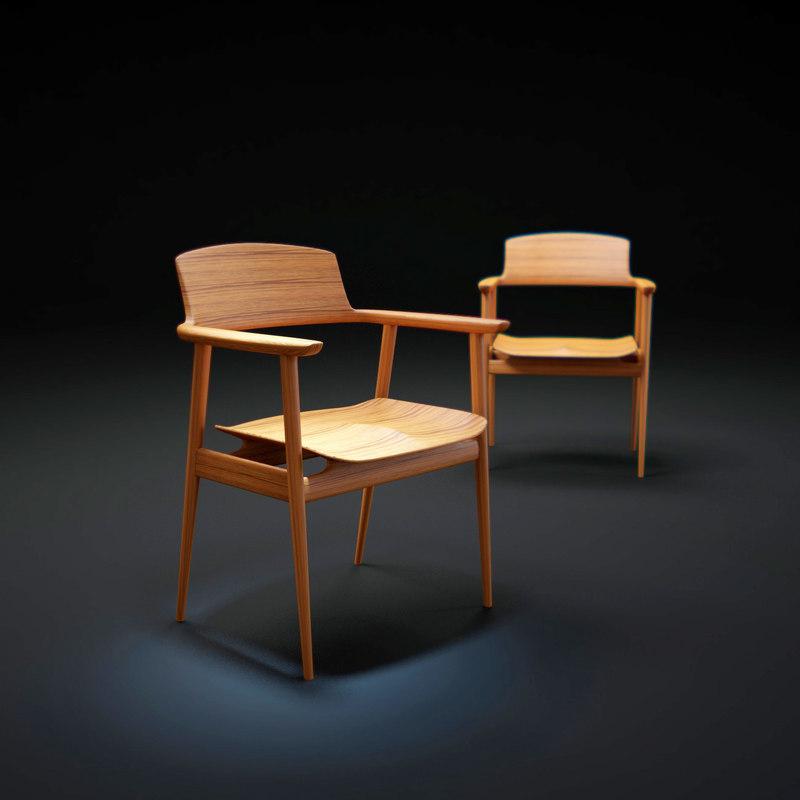 kisaragi-dining-chair 3d model