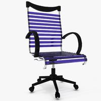 3d model modern chair 02
