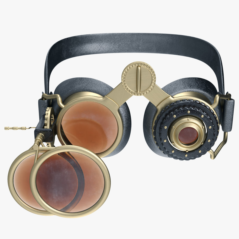 steampunk goggles 3d model
