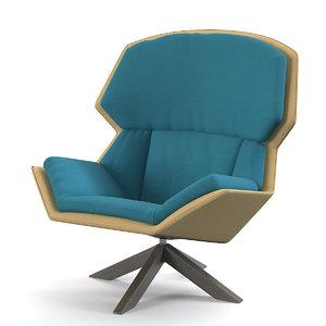 clarissa chair 3d model