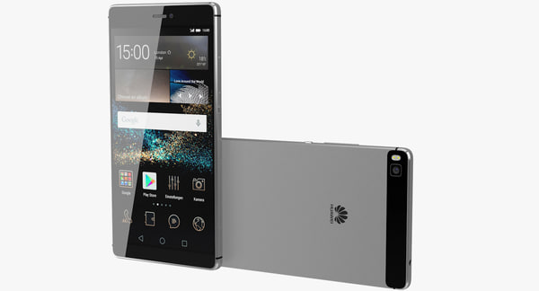 realistic huawei p8 grey 3d model