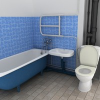 polys bathroom 3d max