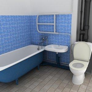 polys bathroom 3d max