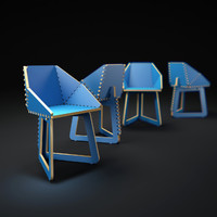 3d model plywood-chair